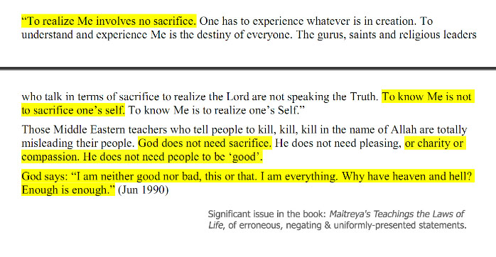 snapshot of unignorable statements in the book: the laws of life.